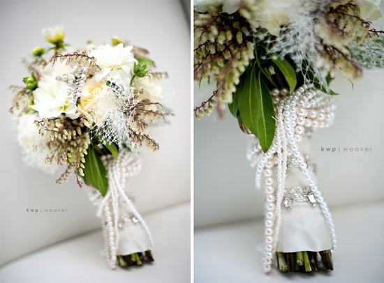 photo of vintage wedding photography orlando photographers bridal bouquet pearls