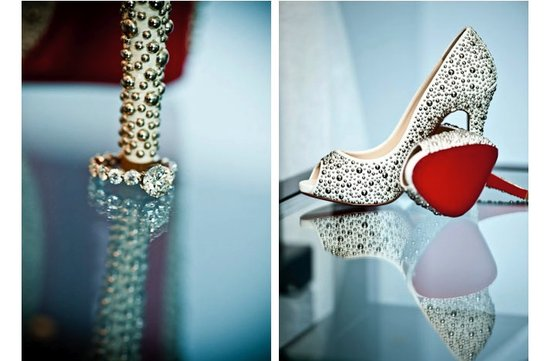 studded louboutin wedding shoes