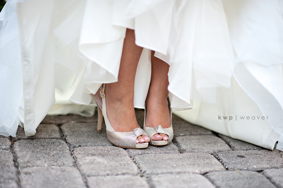 champagne sparkle wedding shoes | OneWed.com
