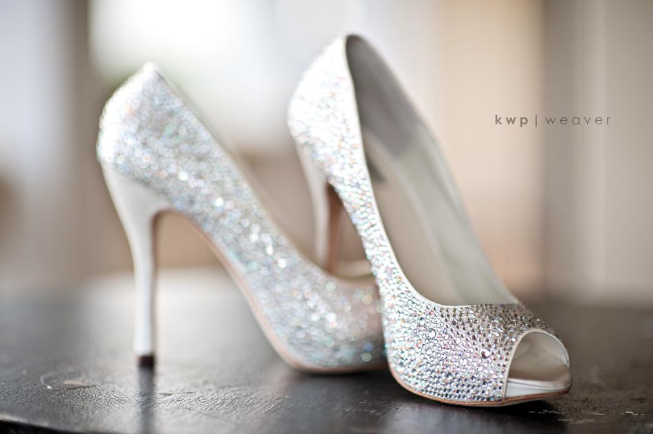Sparkly Wedding Shoes Peep Toe