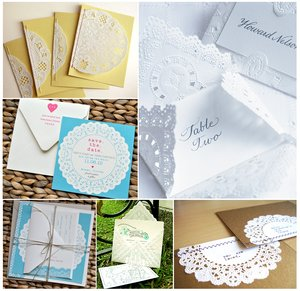 photo of Paper Goods Ideas:  Doily details for your vintage wedding