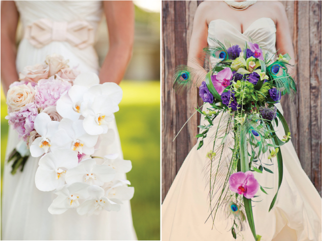 Cascade-wedding-bouquet-belle-the-magazine-peacock-feathers.full
