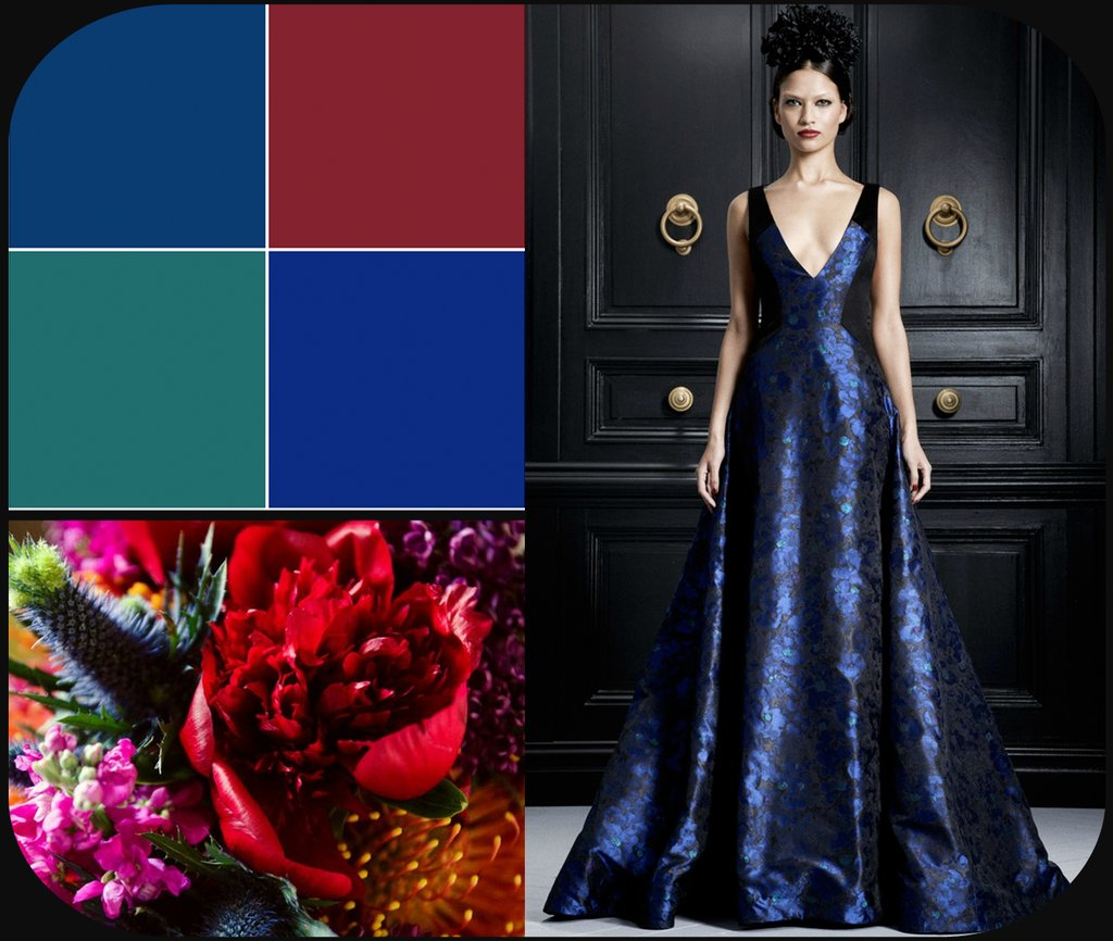 rich jewel tones wedding color palette