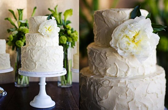 photo of Ivory Spring garden wedding cake by My Sweet and Saucy