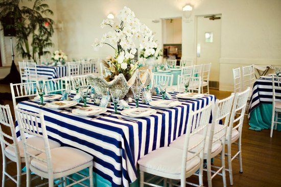 Navy ivory and aqua Hamptons wedding photos nautical tablescape