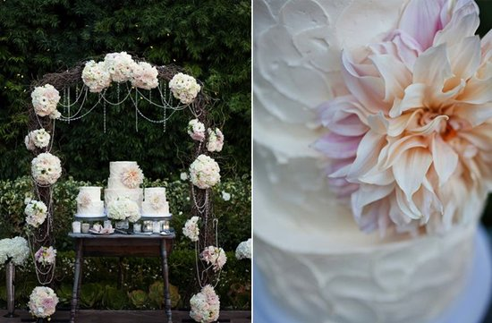 enchanted garden wedding cake