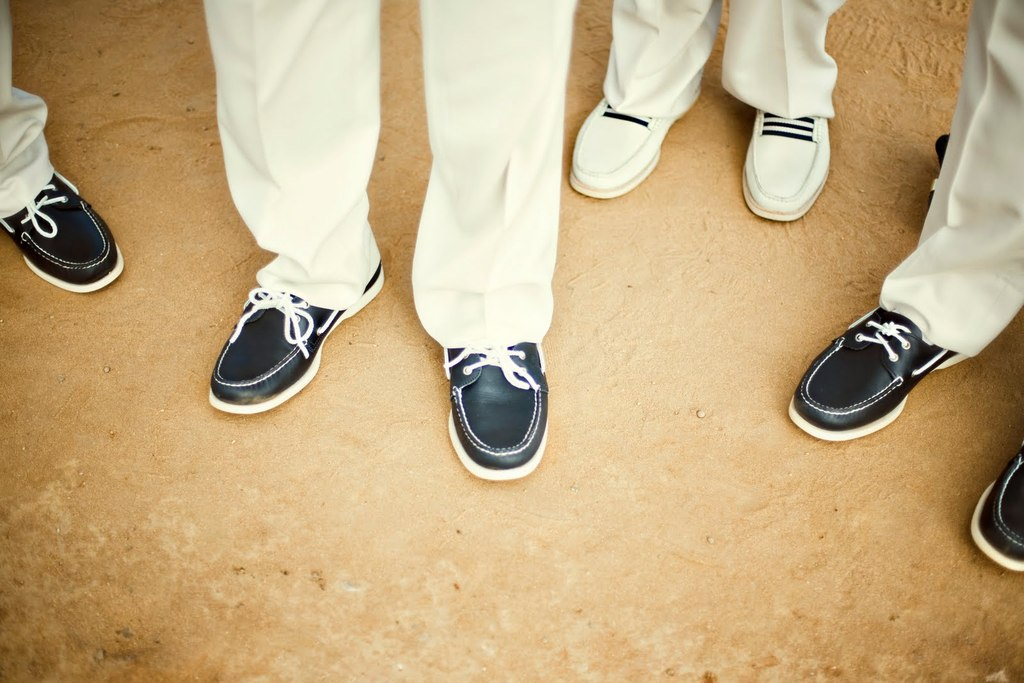 Navy Ivory And Aqua Hamptons Wedding Photos Sperrys For The Guys