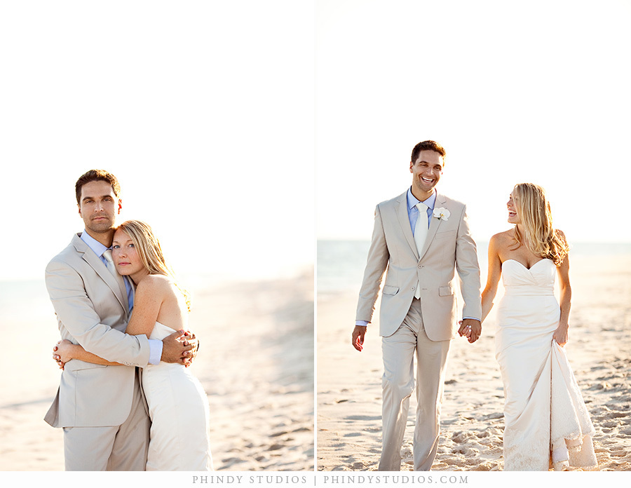 Elegant beach wedding style in the hamptons