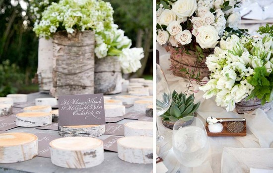 Elegant hamptons wedding reception welcome table