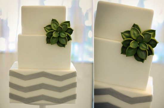 fondant succulent wedding cake