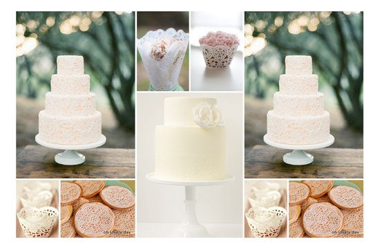 photo of Dessert Ideas for Your Vintage Wedding: Doily Details!