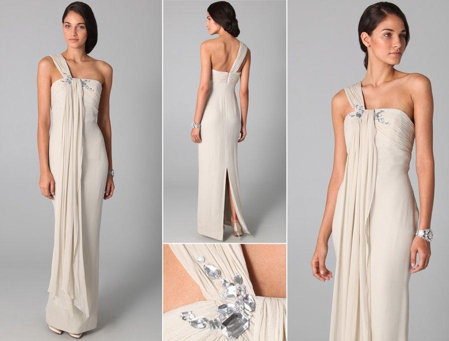 One Shoulder Grecian Prom Dresses wedding-dress-one-shoulder