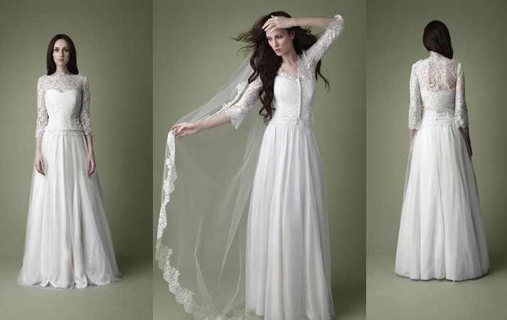 1950sw vintage wedding dress kate middleton inspired