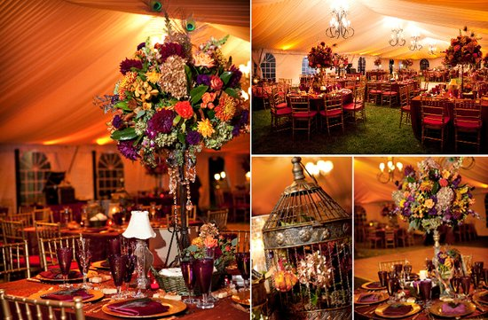 photo of Dramatic Topiary Centerpieces