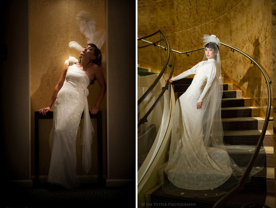 Art deco meets modern city chic wedding style
