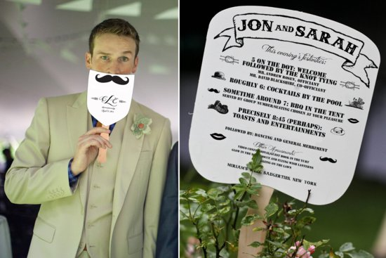 Hipster wedding programs