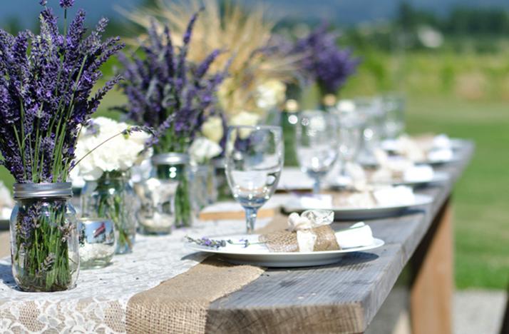 outdoor wedding reception centerpieces mason jars purple. Black Bedroom Furniture Sets. Home Design Ideas