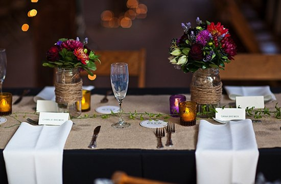 photo of Enchanted Wedding Decor Using Mason Jars