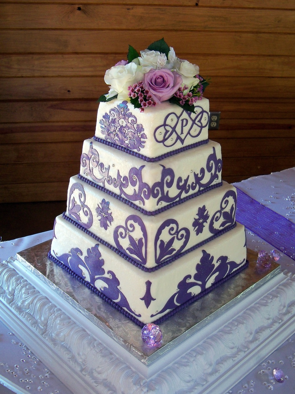 Purple Damask 1