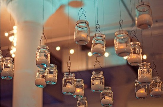 vintage wedding ideas mason jars ceremony reception decor 3