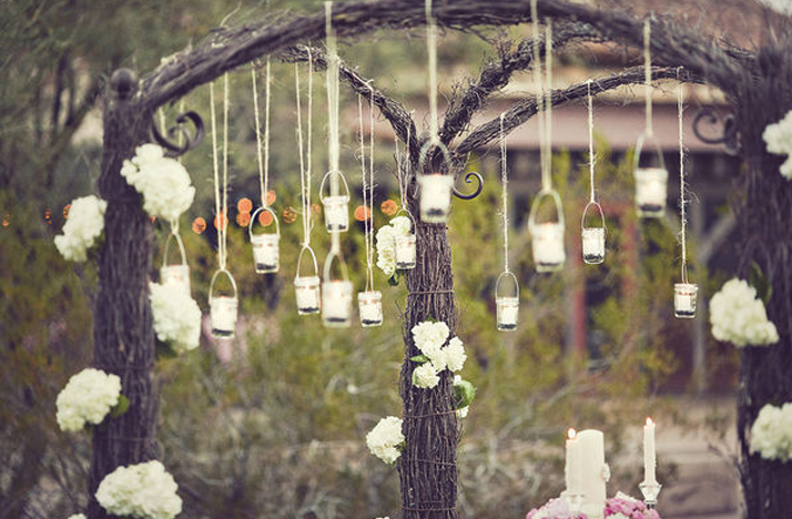 Unique Outdoor Wedding Decor | vintage wedding ideas mason