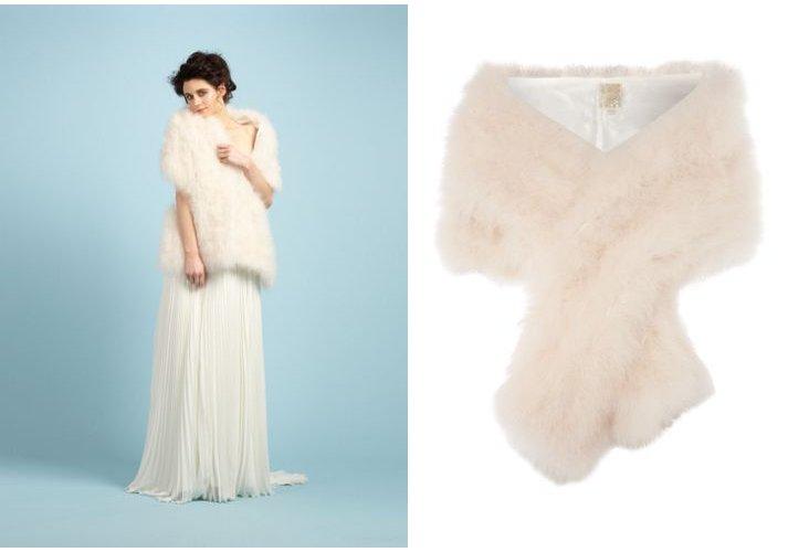 Faux fur wedding shrug bridal accessories for Fur shrug for wedding dress