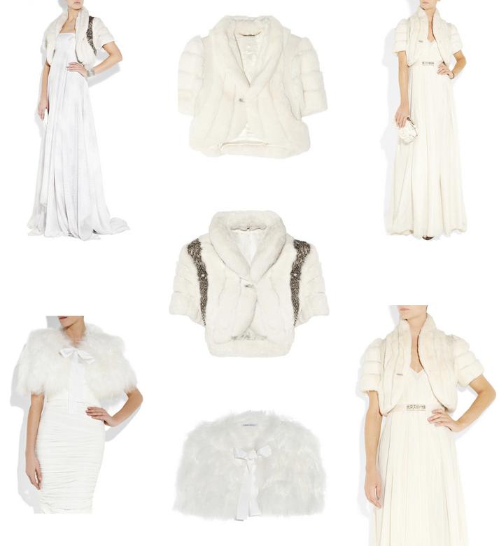 Winter wedding style wedding dress fur bridal bolero for Winter wedding dress styles