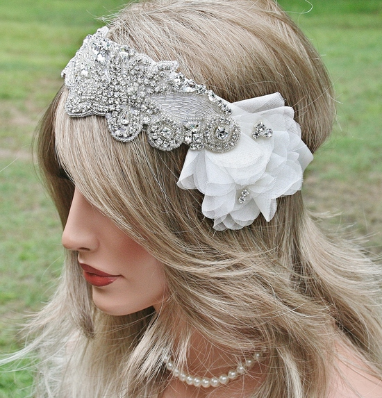 Rhinestone Bridal Headband,1920s Glam, Great Gatsby