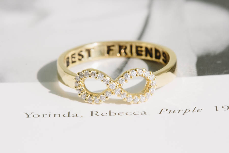 Best Friends infinity ring for bridesmaids