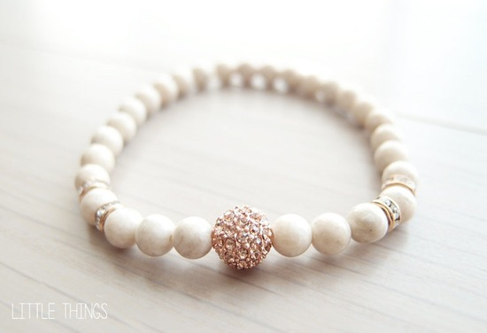 rose gold and pearl bracelet for bridesmaids