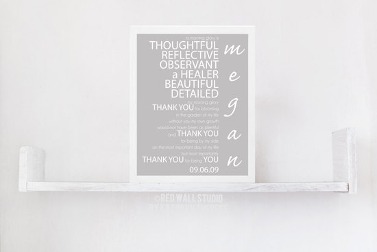 personalized bridesmaid poster to say thanks