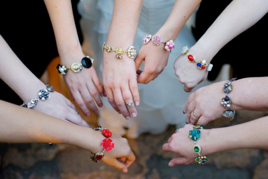 Reclaimed vintage bracelets for bridesmaids