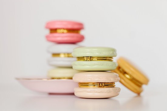 Macaron trinket boxes for bridesmaids