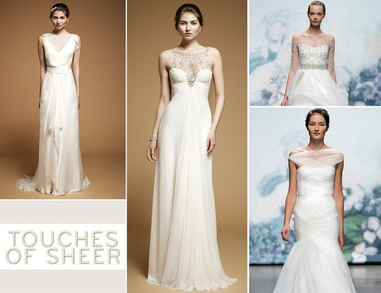 photo of 2012 wedding dress trends sheer necklines