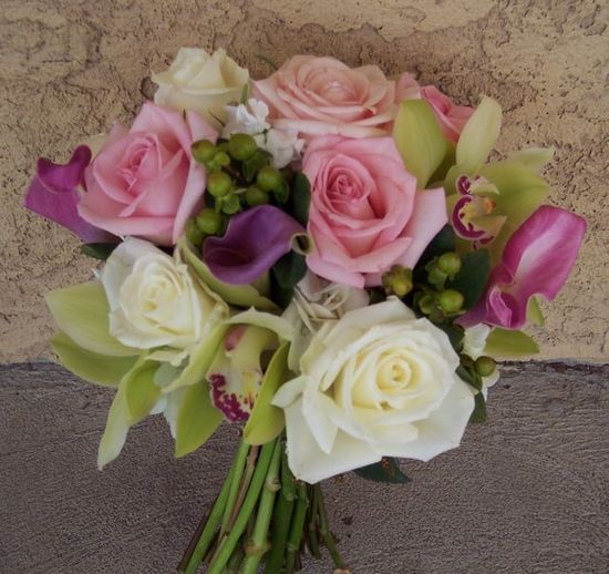 Pink-green-and-white-wedding-bouquet