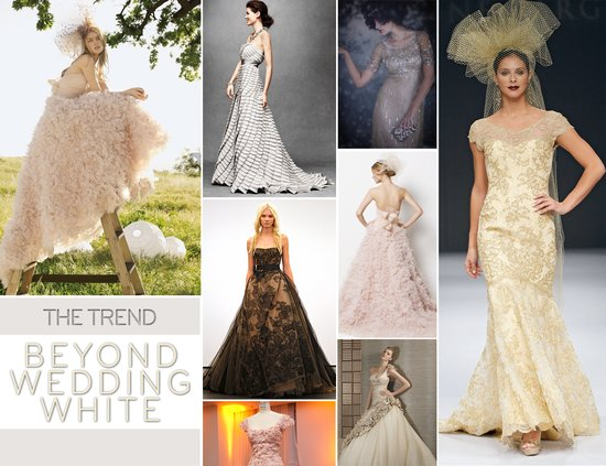 2012 WEDDING DRESS TRENDS BEYOND WHITE BRIDAL GOWNS