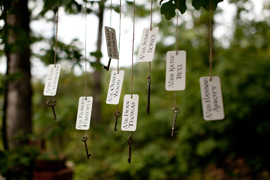 Harry Potter wedding theme whimsical escort cards