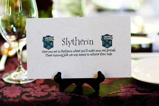 Harry Potter wedding table numbers