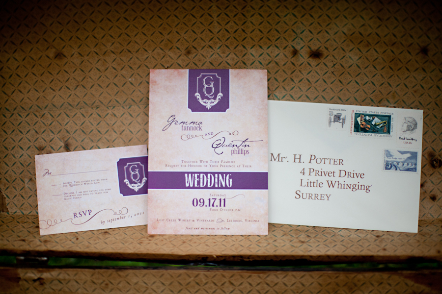 harry potter wedding invitation suite - Harry Potter Wedding Invitations