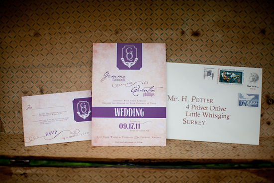 Harry Potter wedding invitation suite