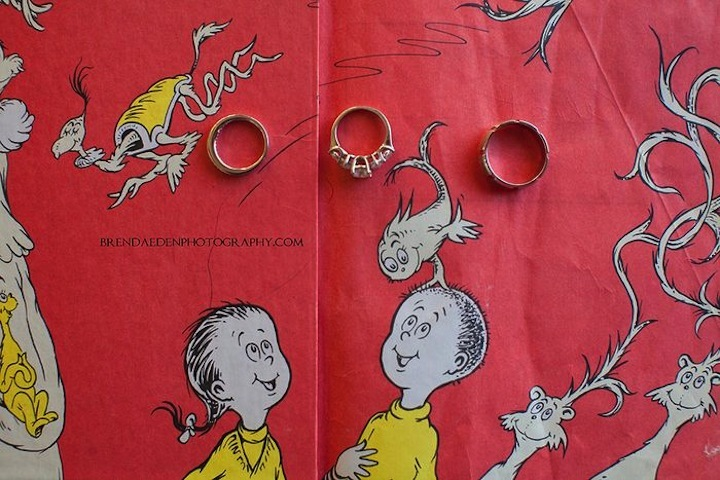 Dr Seuss themed wedding ring photo