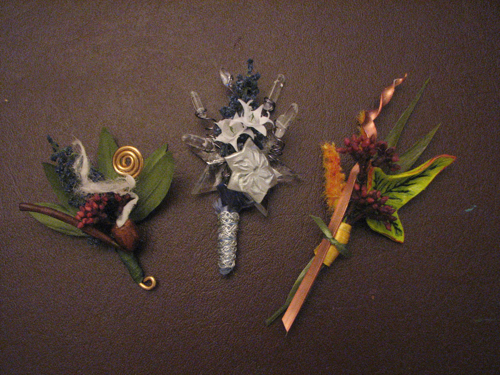 Lord of the Rings Inspired wedding boutonnieres