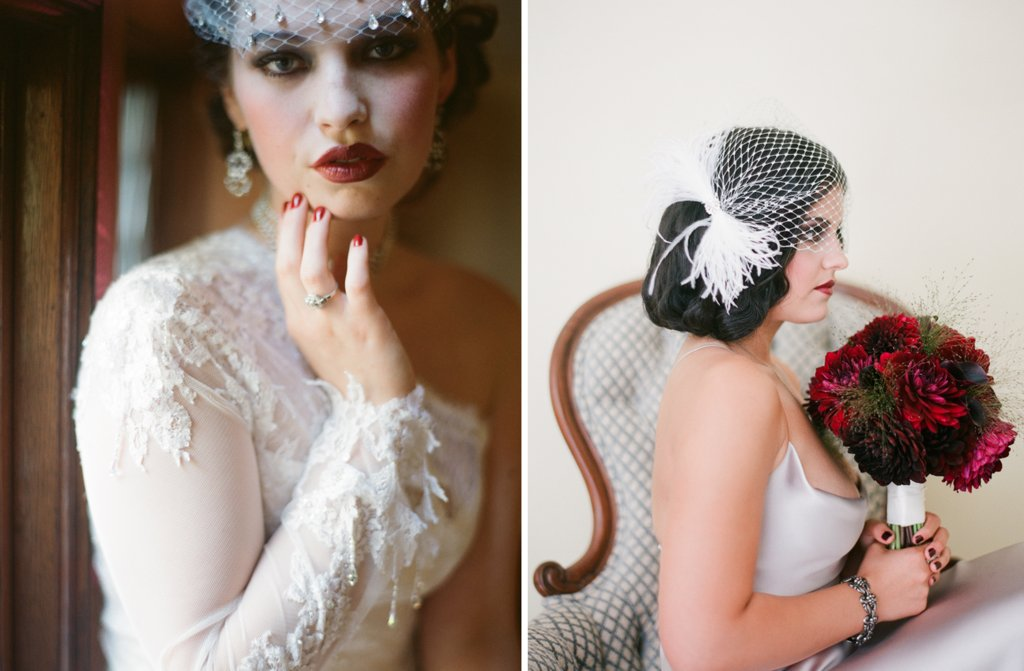 Great-gatsby-inspired-bride-headpiece-and-flowers-2.full