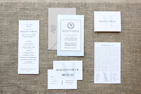 Sweet southern wedding elegant invitations