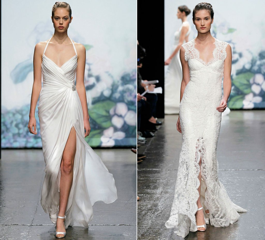 wedding dress trends monique lhuillier bridal gowns sultry slits ...