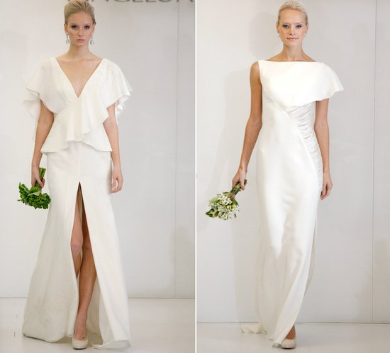 2012 wedding dress trends slits angel sanchez bridal gowns