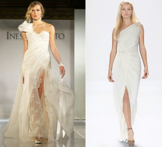 2012 wedding dress trends slits ines di santo bridal gowns one shoulder