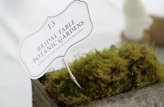 au wedding reception table numbers