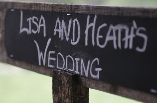 au wedding chalkboard wedding sign