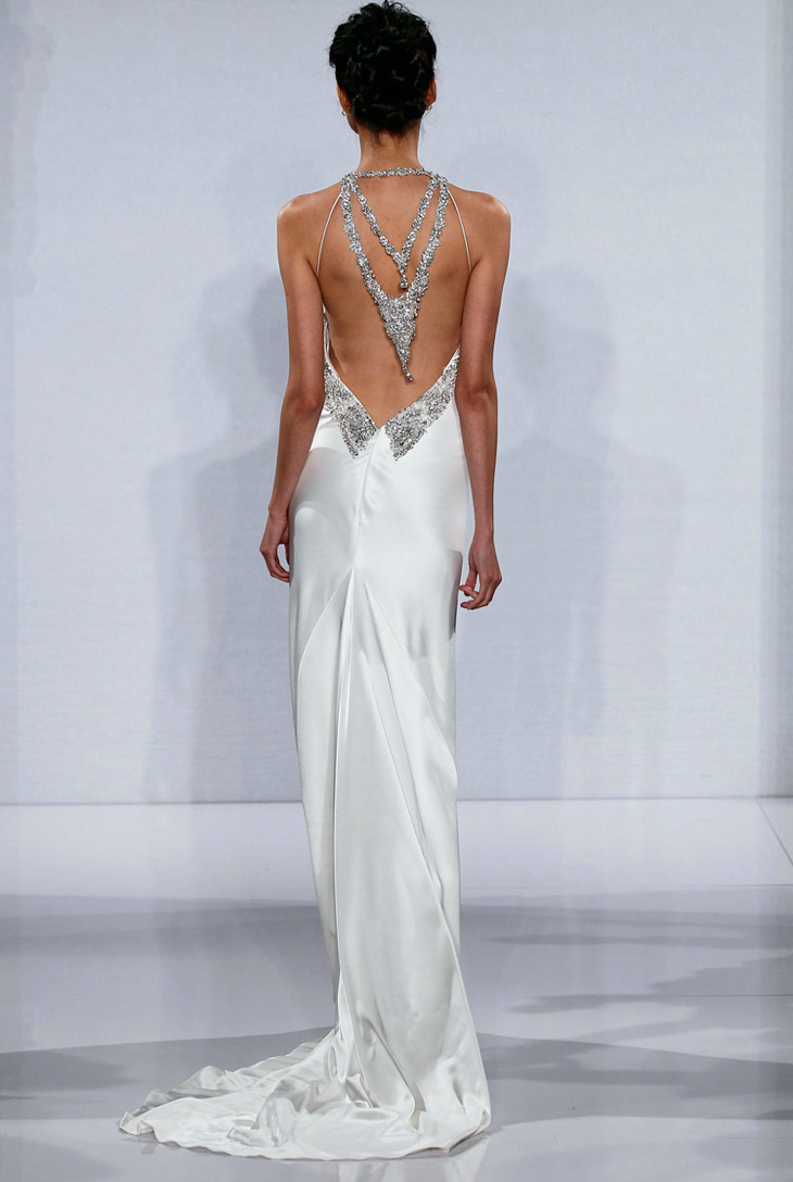 Statement back wedding dresses 2012 bridal trends pnina for Back necklace for wedding dress